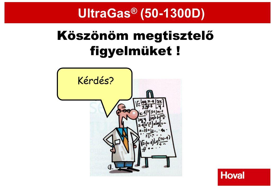UltraGas ® (50-1300D) Köszönöm megtisztelő figyelmüket ! Kérdés?