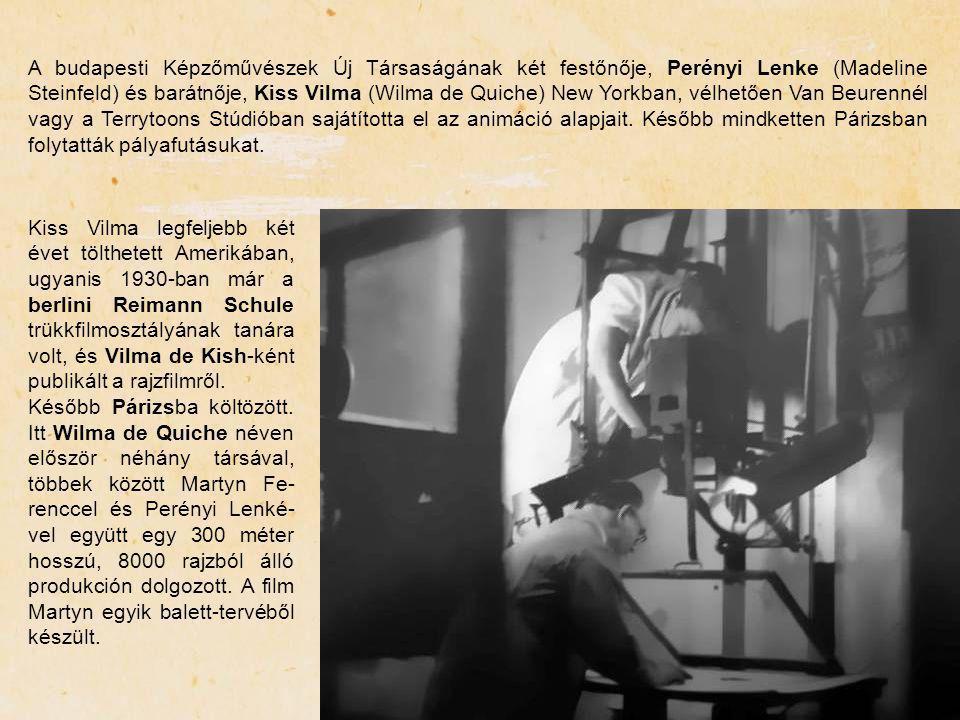 A budapesti Képzőművészek Új Társaságának két festőnője, Perényi Lenke (Madeline Steinfeld) és barátnője, Kiss Vilma (Wilma de Quiche) New Yorkban, vé