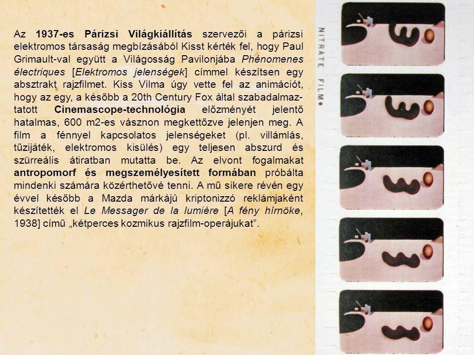 Az 1937-es Párizsi Világkiállítás szervezői a párizsi elektromos társaság megbízásából Kisst kérték fel, hogy Paul Grimault-val együtt a Világosság Pa