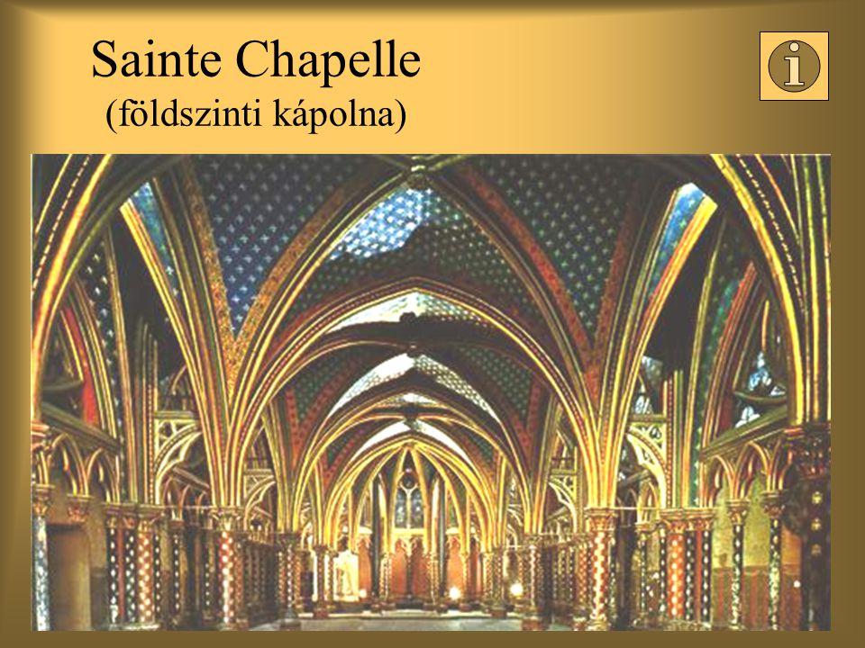 Sainte Chapelle (földszinti kápolna)