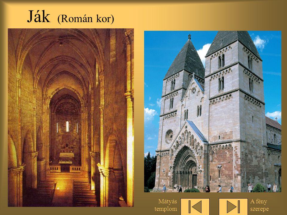 Áttört falfelületek Budapest, mise a Mátyás templomban Hasonlítsuk össze a román kori templommal.