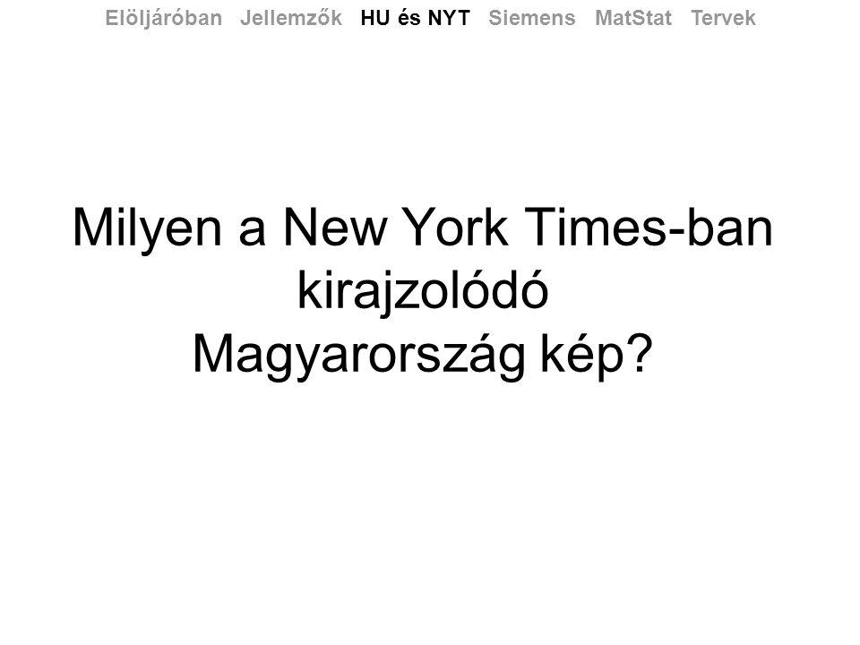 Milyen a New York Times-ban kirajzolódó Magyarország kép.