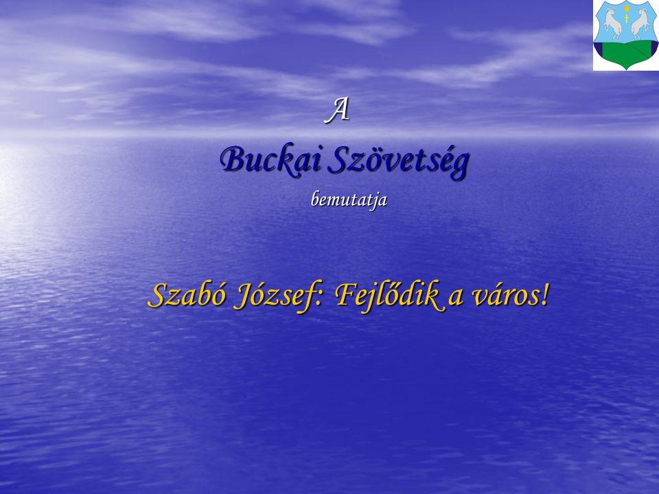 A Buckai Szövetség bemutatja Szabó József: Fejlődik a város!