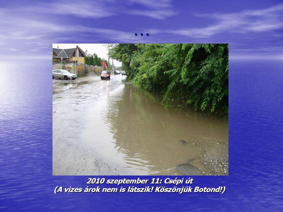 … 2010 szeptember 11: Csépi út (A vizes árok nem is látszik! Köszönjük Botond!)