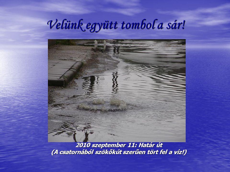 Nyáron, télen 2010 szeptember 11: Csépi út (Buszmegálló a víz kellős közepén! Köszönjük Józsi!)