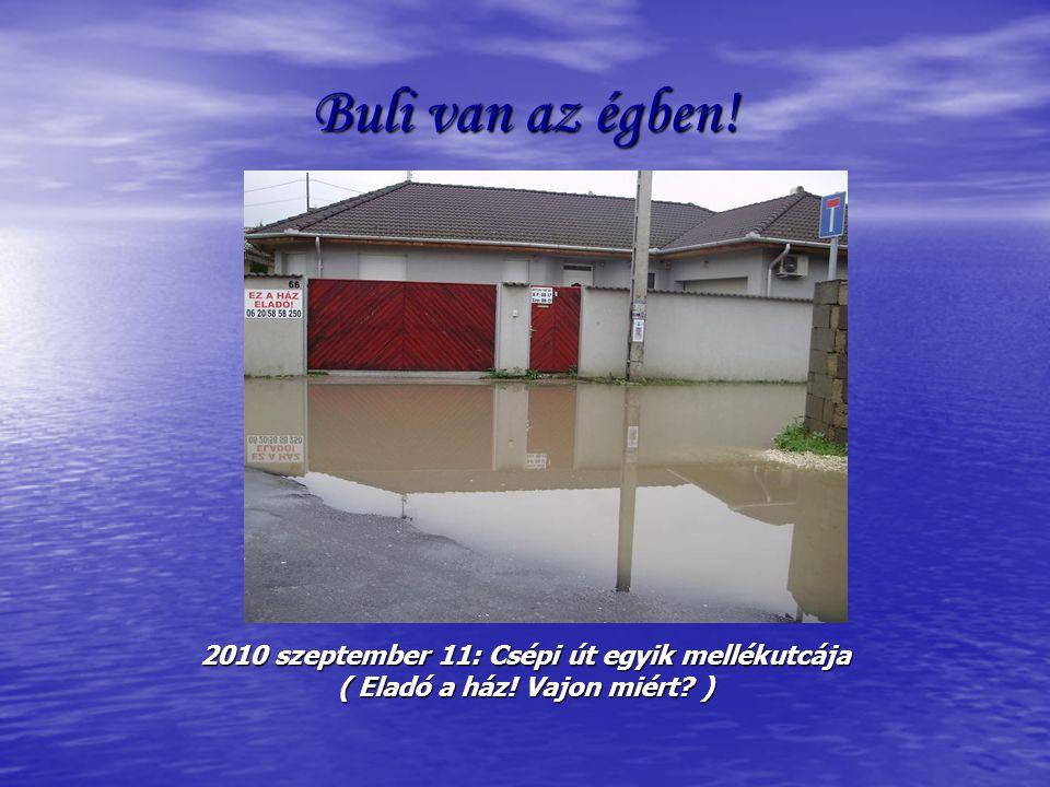 Buli van az égben! 2010 szeptember 11: Csépi út egyik mellékutcája ( Eladó a ház! Vajon miért? )