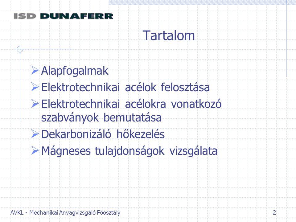 AVKL - Mechanikai Anyagvizsgáló Főosztály 43 Stabilitás vizsgálat 2006.12 hónap óta Első mérés a 100%