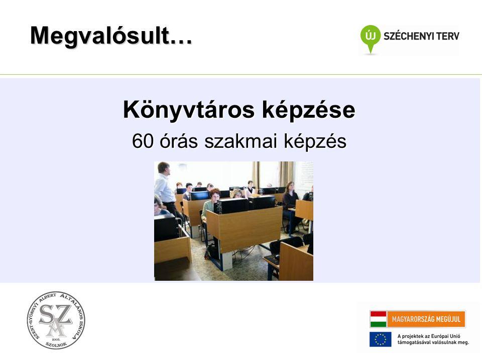 Interaktív, többnyelvű könyvtári portál szakmai kialakítása, fejlesztése Megvalósult…