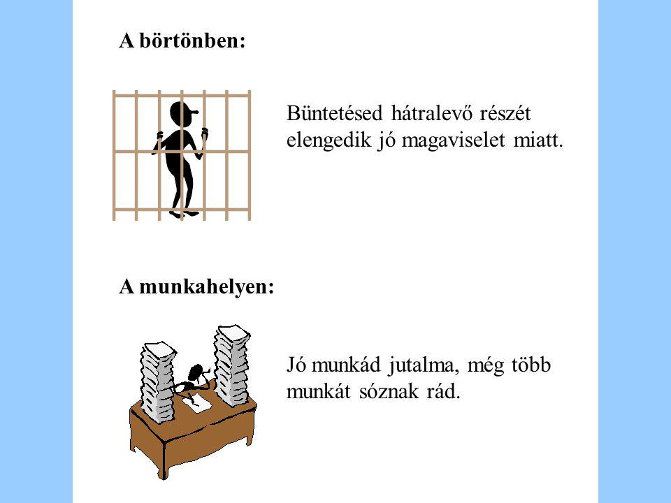 A börtönben: A munkahelyen: Az őr kinyitja es becsukja az ajtót utánad.