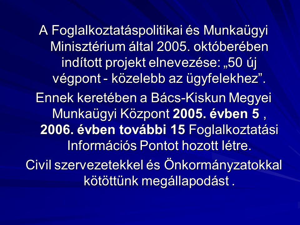 A Foglalkoztatáspolitikai és Munkaügyi Minisztérium által 2005.