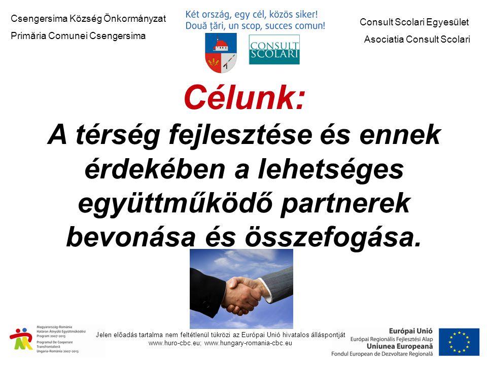 Jelen előadás tartalma nem feltétlenül tükrözi az Európai Unió hivatalos álláspontját www.huro-cbc.eu; www.hungary-romania-cbc.eu Nagytarnai Református Egyházközség HURO/1101/027/1.3.1 Negresti Oas Önkormányzata HURO/1001/222/2.1.2 Nagykolcs Önkormányzat HURO/1001/106/2.3.2 P.A.X.