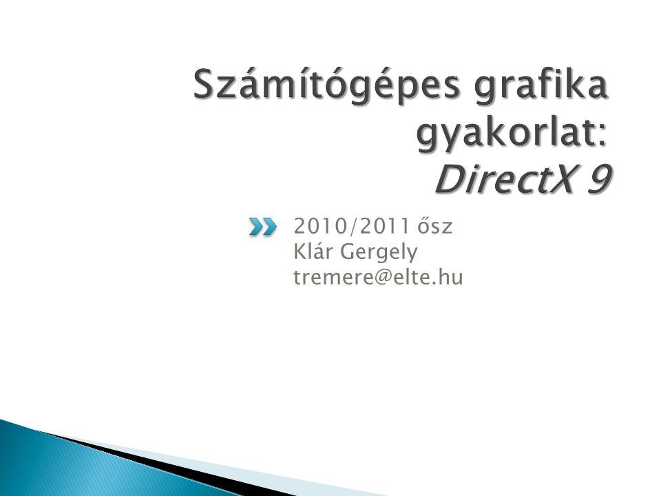 2010/2011 ősz Klár Gergely tremere@elte.hu