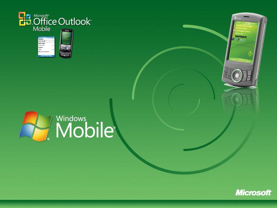 Régen(2002): egy eszköz, egyetlen gyártó Ma: • 6 millió Windows Mobile eladás 2005-ben • Több mint 100 mobil szolgáltató partner 55 országban • Száznál többféle mobiltelefon és gyorsan növekvő kínálat (több mint 47 gyártó) • 18,000+ Windows Mobile-ra készített alkalmazás • Direct Push E-mail Windows Mobile okostelefonok régen és ma Visit www.microsoft.com/windowsmobile for the latest deviceswww.microsoft.com/windowsmobile