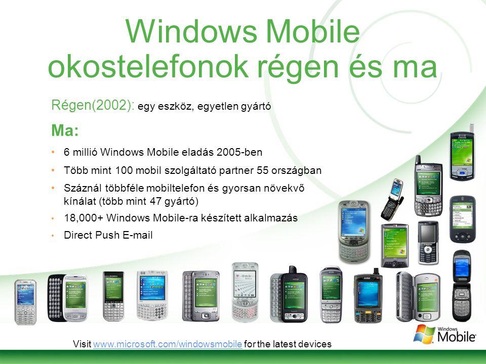 Mi is az a Windows Mobile.Telefon.