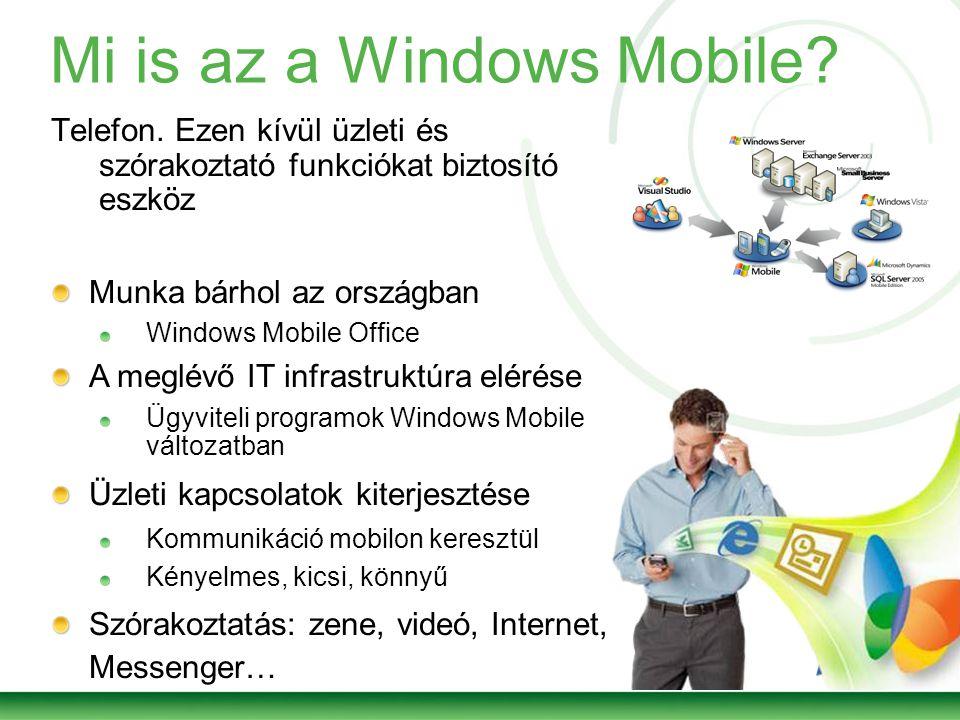 Mi is az a Windows Mobile. Telefon.