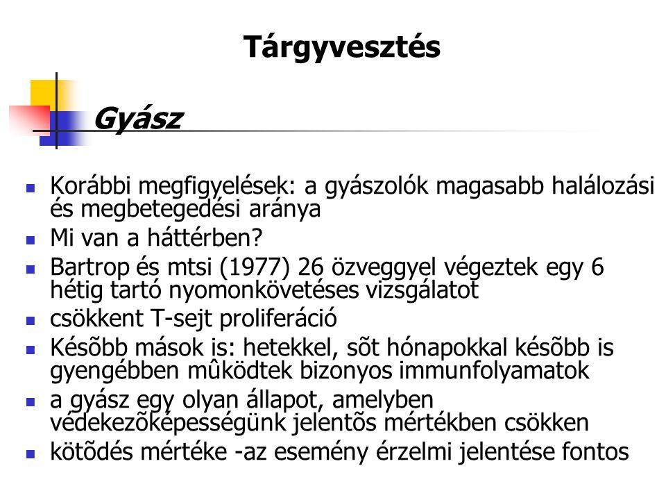  Petrie és mtsi (1995): orvostanhallgatóknál 4 napos trauma-kiírás + oltás hepatitis-B-re; antitest-titer mérés 1,4,6 hónap múlva:  A feltáró csoport magasabb antitest-titert adott hepatitis-B-re minden időpontban  Az idő előrehaladtával a két csoport közötti különbség nőtt