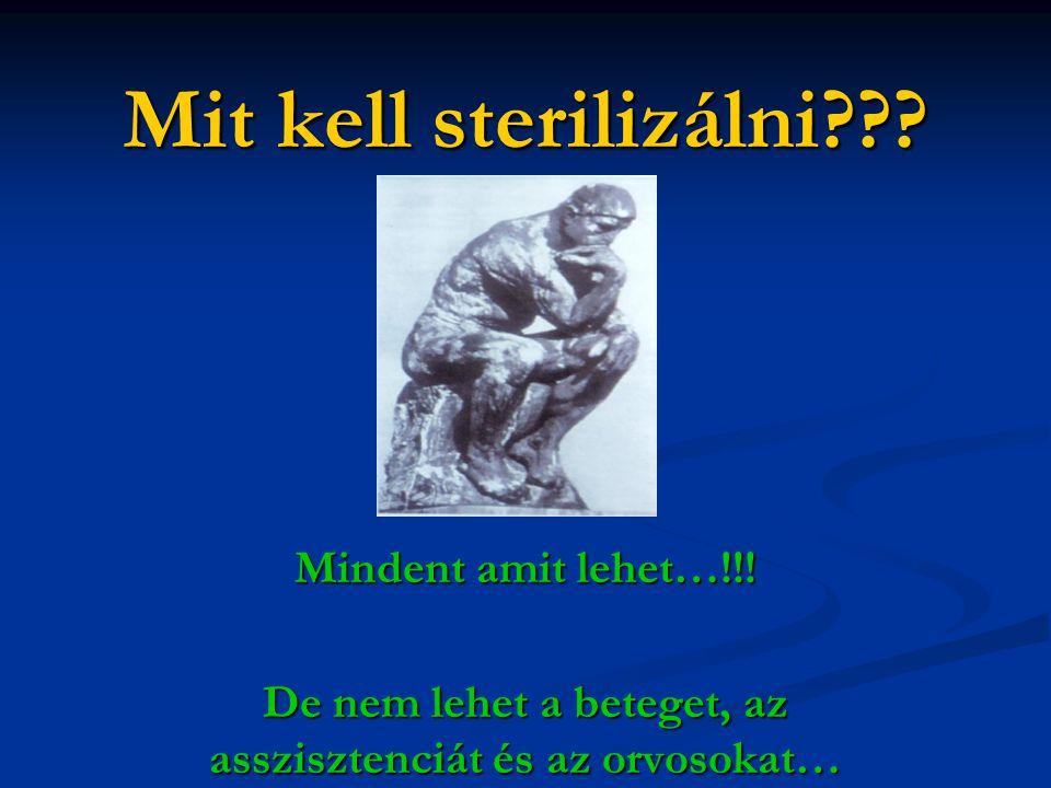 Mit kell sterilizálni??.Mindent amit lehet…!!.