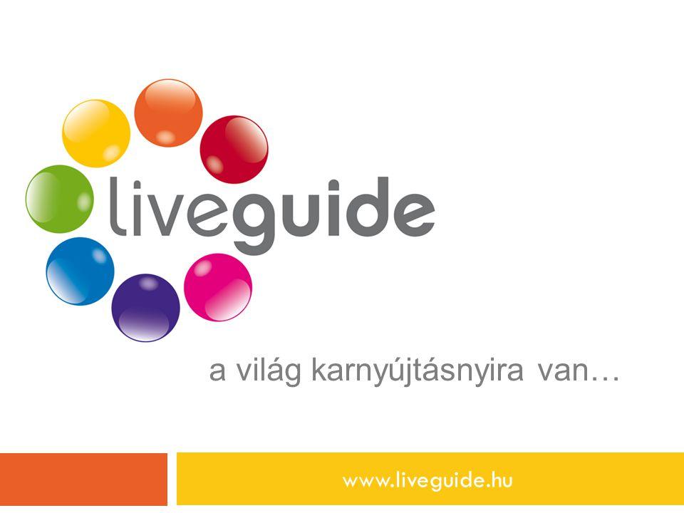 a világ karnyújtásnyira van… www.liveguide.hu