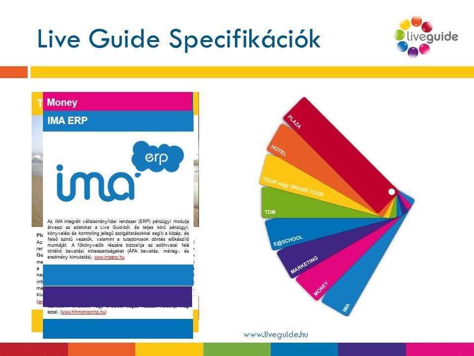 Live Guide Specifikációk www.liveguide.hu