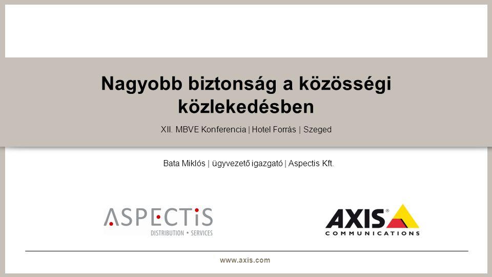 www.axis.com Nagyobb biztonság a közösségi közlekedésben XII.
