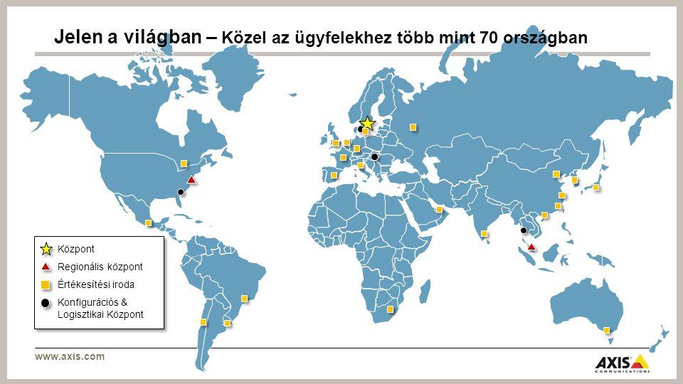 www.axis.com Az Axis elkötelezett a közlekedési iparban Közösségi közlekedés LégiForgalomHajózásiTeher