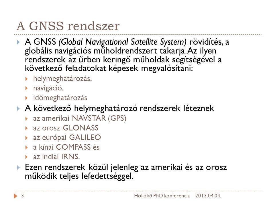 A GNSS rendszer  A GNSS (Global Navigational Satellite System) rövidítés, a globális navigációs műholdrendszert takarja.