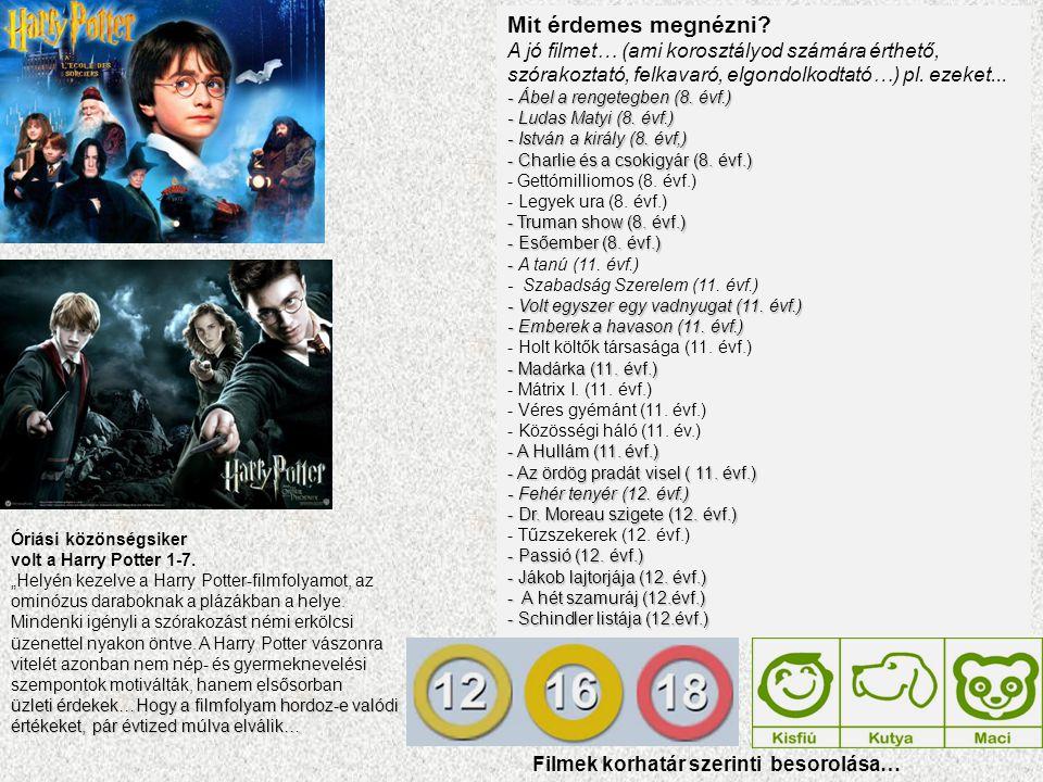 """Óriási közönségsiker volt a Harry Potter 1-7. """"Helyén kezelve a Harry Potter-filmfolyamot, az ominózus daraboknak a plázákban a helye. Mindenki igényl"""