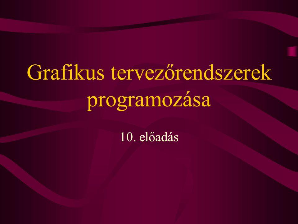 Grafikus tervezőrendszerek programozása 10. előadás
