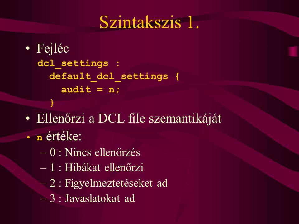 DCL ablak szerkezete 1.