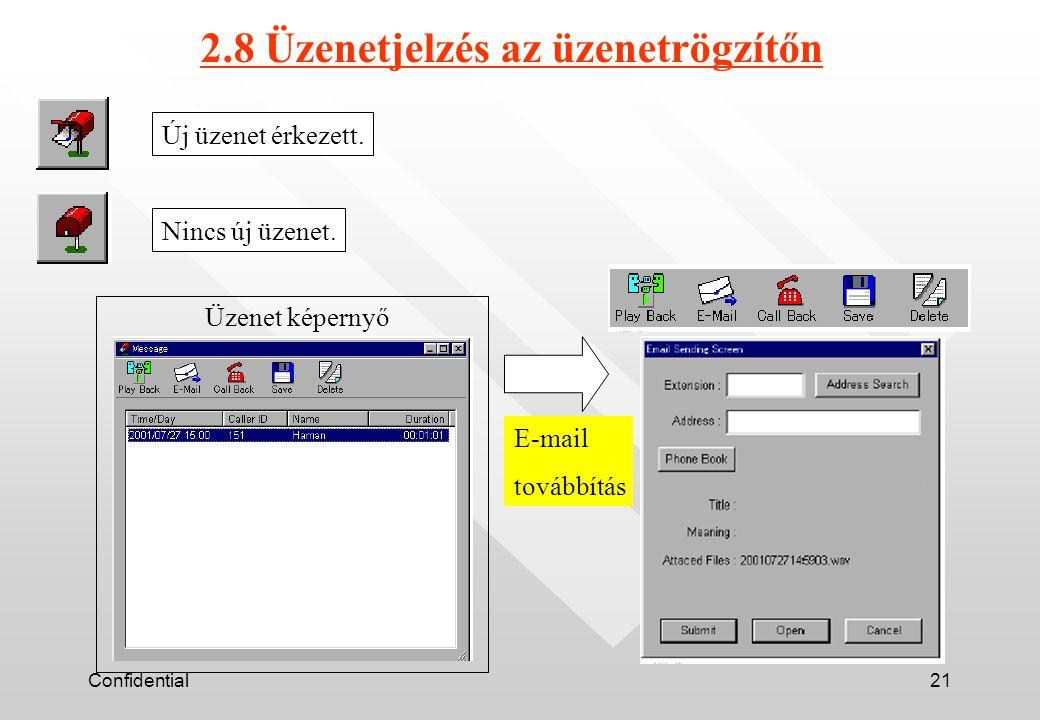 Confidential21 Új üzenet érkezett. Nincs új üzenet.