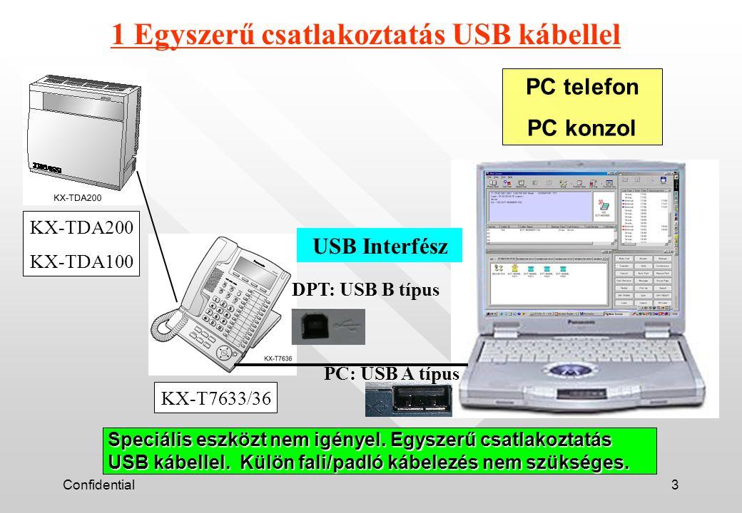 Confidential44 Köszönjük a figyelmet ! 9.fejezet PC-konzol / PC-telefon