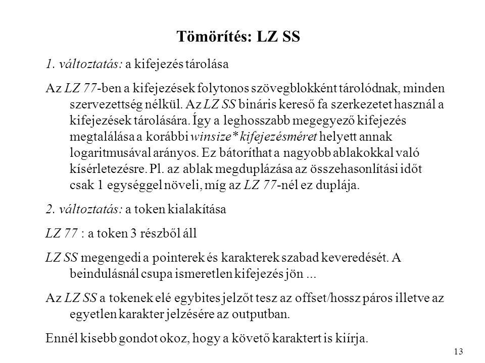 Tömörítés: LZ SS 1.