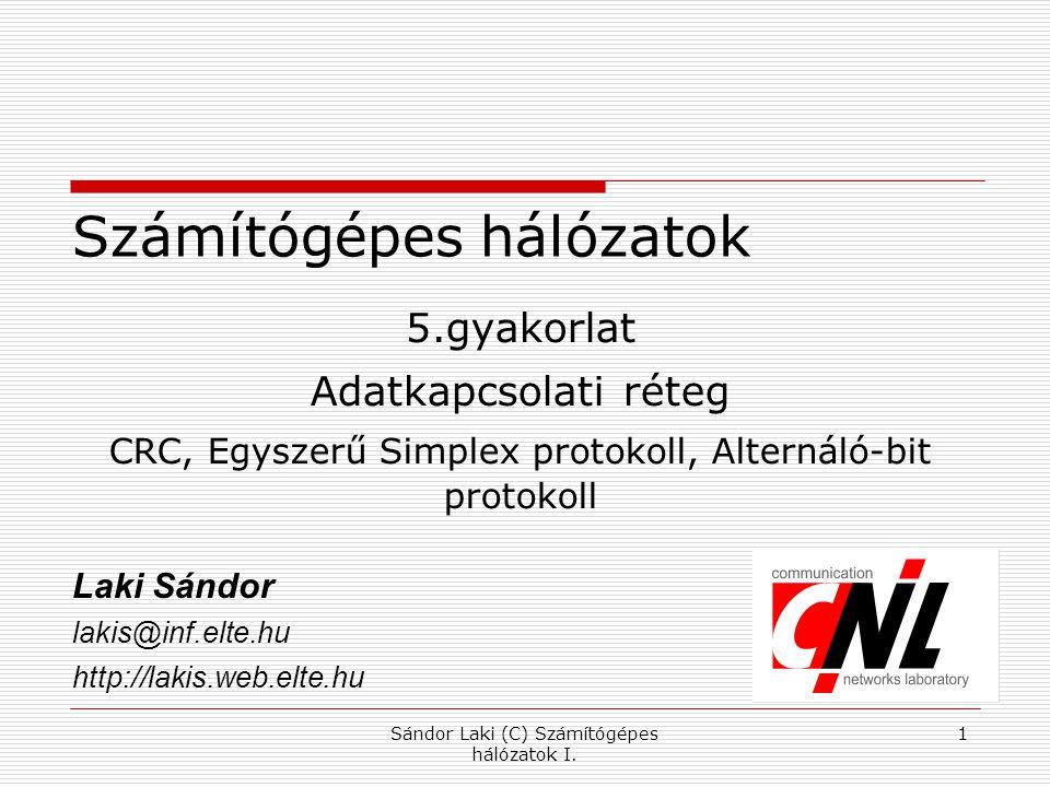 Hamming-korlát Sándor Laki (C) Számítógépes hálózatok I. 2