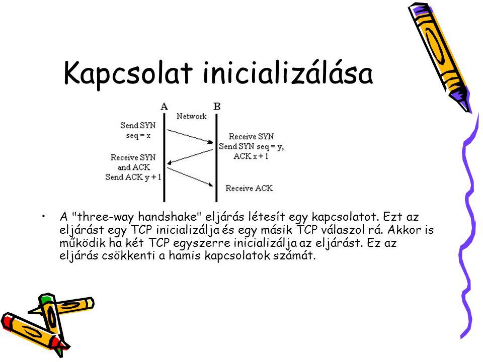 Kapcsolat inicializálása •A