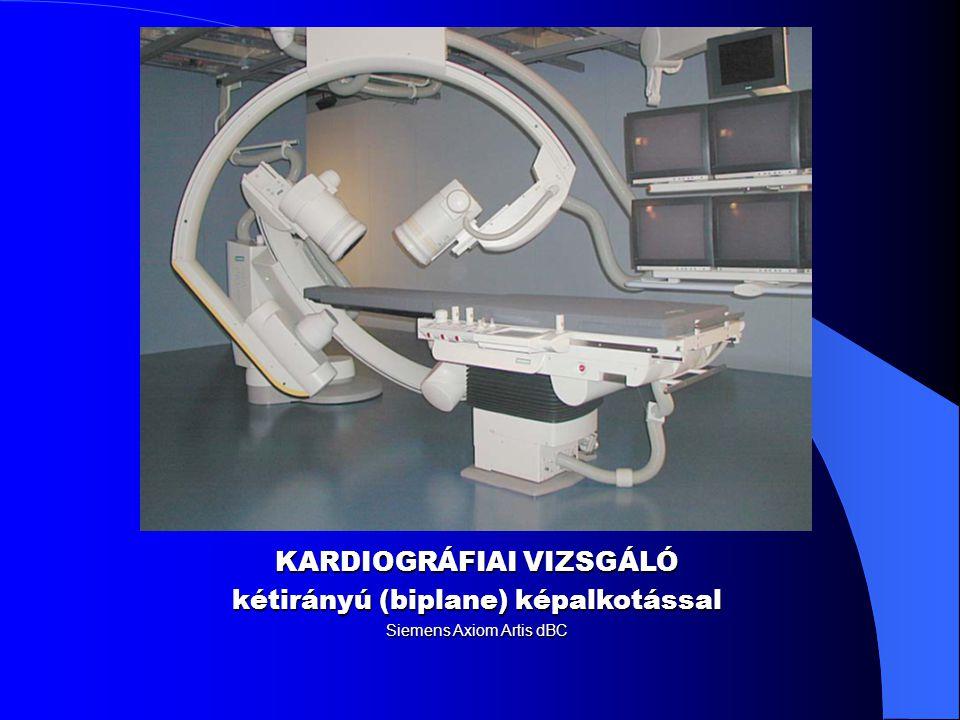 KARDIOGRÁFIAI VIZSGÁLÓ kétirányú (biplane) képalkotással Siemens Axiom Artis dBC