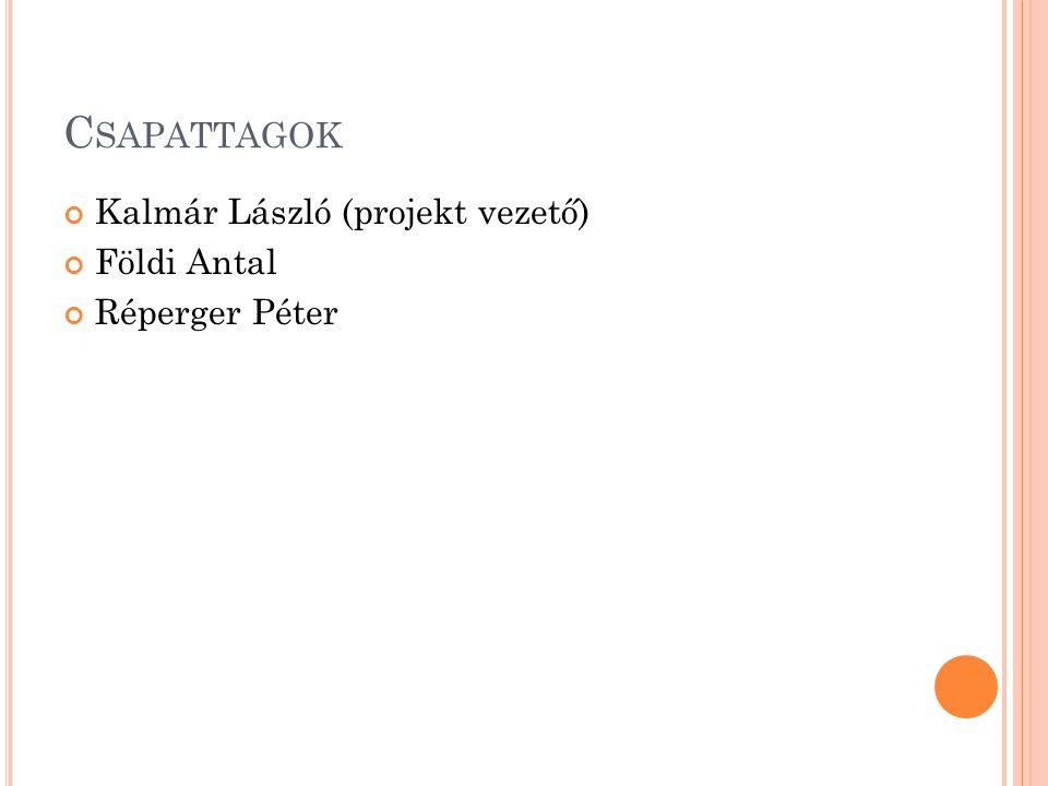 C SAPATTAGOK Kalmár László (projekt vezető) Földi Antal Réperger Péter