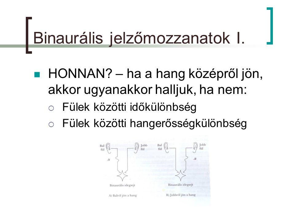Binaurális jelzőmozzanatok I. HONNAN.