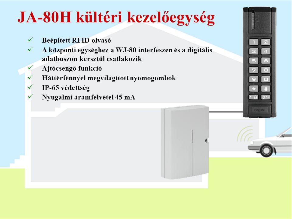 PC-01 proximity kártya  RFID érintés nélküli azonosító kártya (EM UNIQUE 125kHz)  Maximum 50 kártya használható  A kártya a kóddal azonos módon has