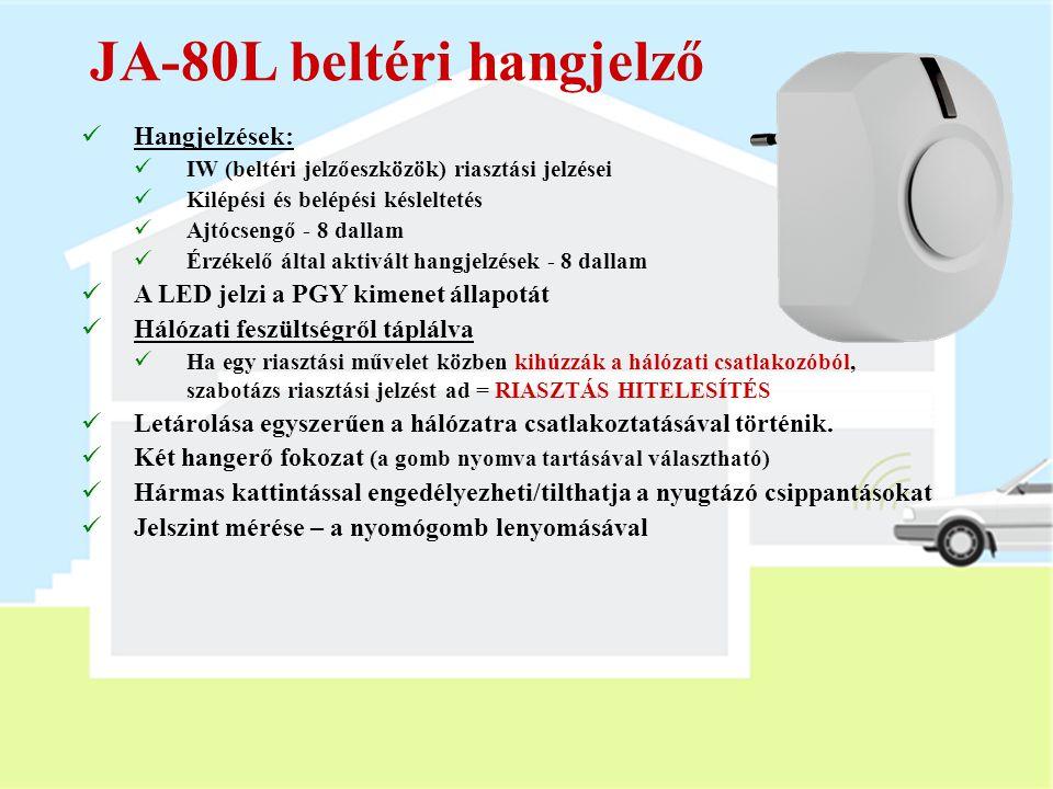 JA-82M ablak nyitásérzékelő  Rejtett ablak (ajtó) nyitás érzékelő (Euro vagy fa)  Az ablak vagy ajtó keretébe telepíthető  DIP kapcsolók:  Zárási