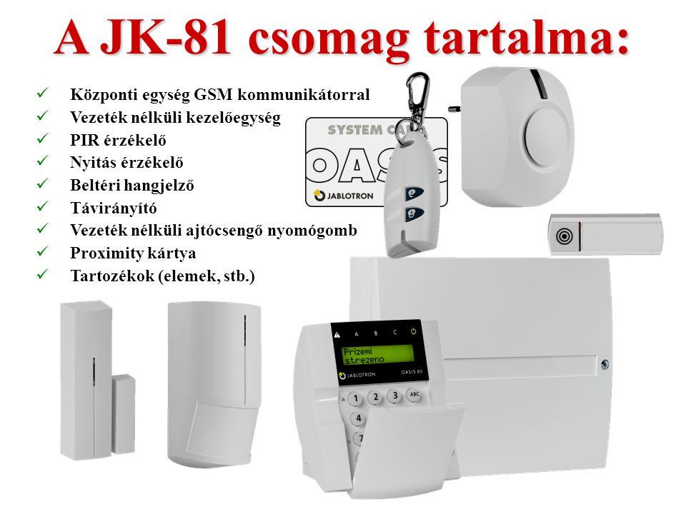 JK-81 kit  Előre programozott  Egyszerűen telepíthető