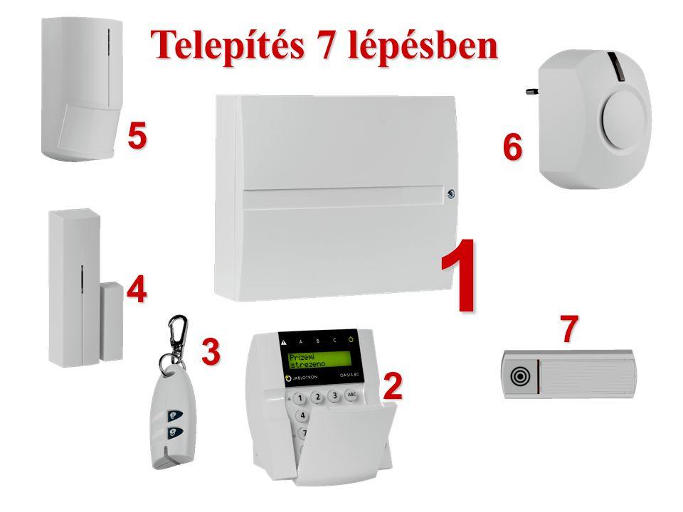 A JK-81 csomag tartalma:  Központi egység GSM kommunikátorral  Vezeték nélküli kezelőegység  PIR érzékelő  Nyitás érzékelő  Beltéri hangjelző  T