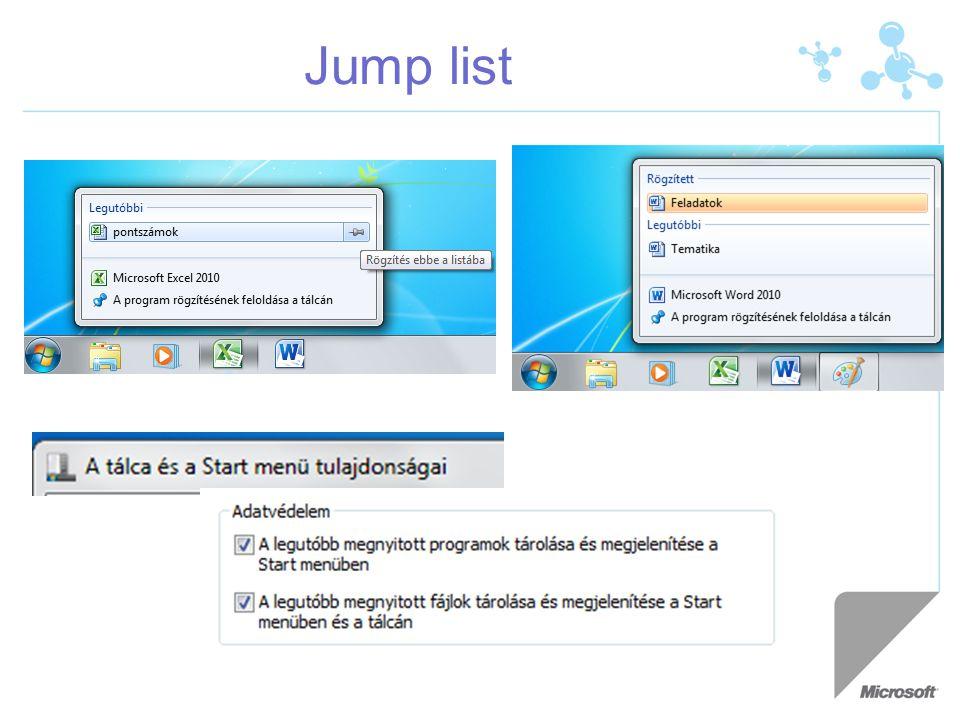 Jump list