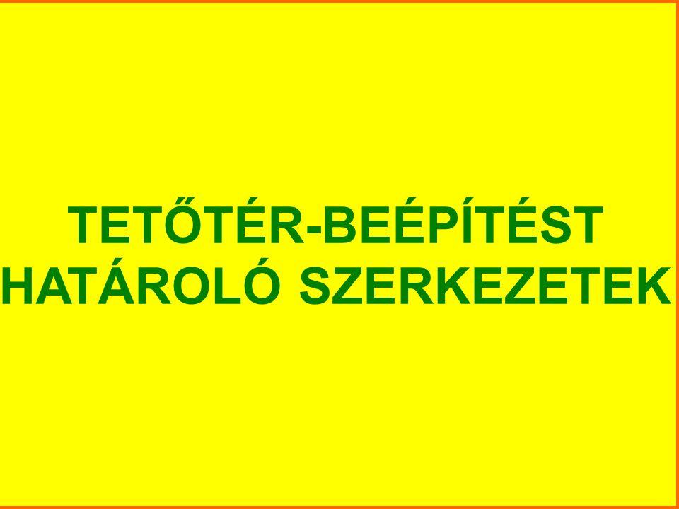 TETŐTÉR-BEÉPÍTÉST HATÁROLÓ SZERKEZETEK