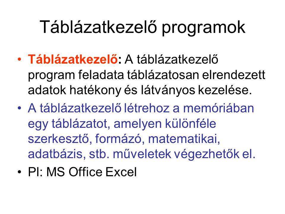 KÜLÖNFÉLE ADATTÍPUSOK BEVITELE •Szöveges adatok bevitele: Ezeket az adatokat az Excel általában helyesen felismeri, és szövegként kezeli.