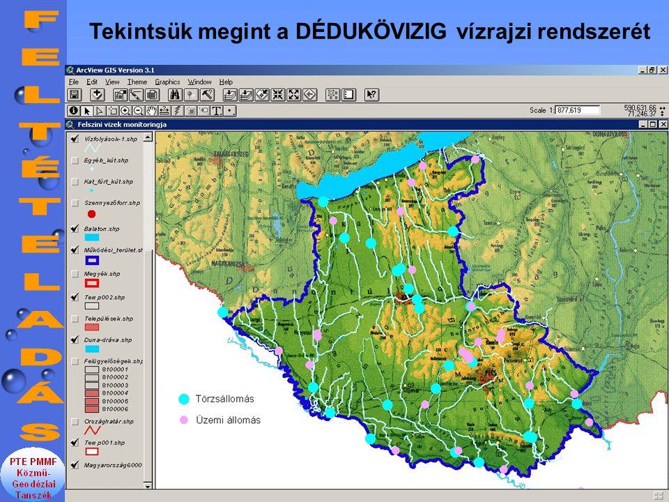 Tekintsük megint a DÉDUKÖVIZIG vízrajzi rendszerét