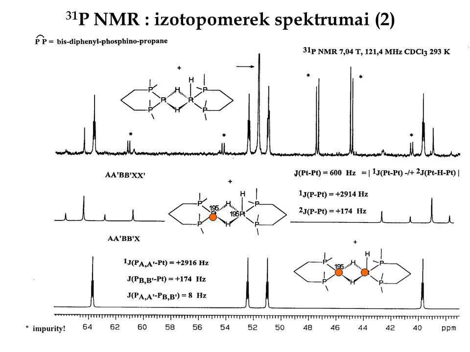 31 P NMR : izotopomerek spektrumai (2)