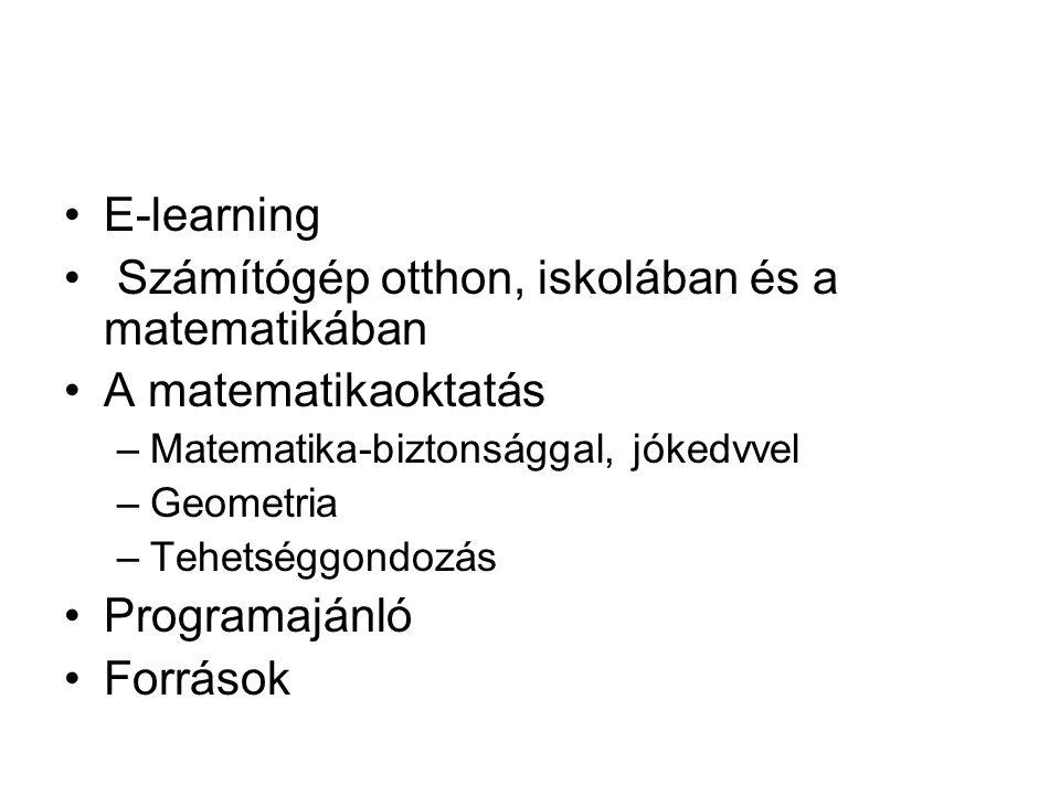"""Matematika-biztonsággal, jókedvvel •""""számtan – Mano-matek Manóka •Geometria – geo-gebra, cabri origami_vasarhelyi.ppt •Tehetséggondozás"""