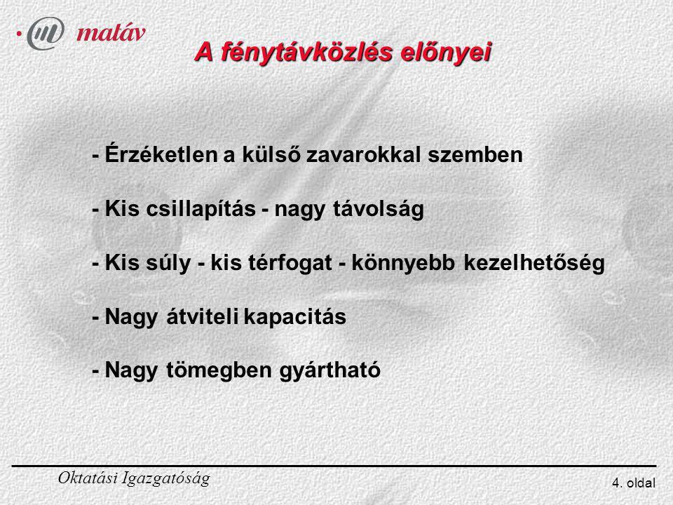 Oktatási Igazgatóság 15.oldal Az átviteli ablakok - I.