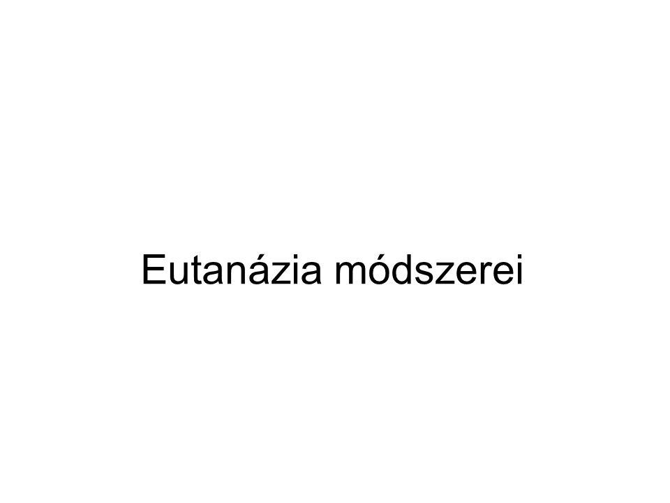 Eutanázia módszerei