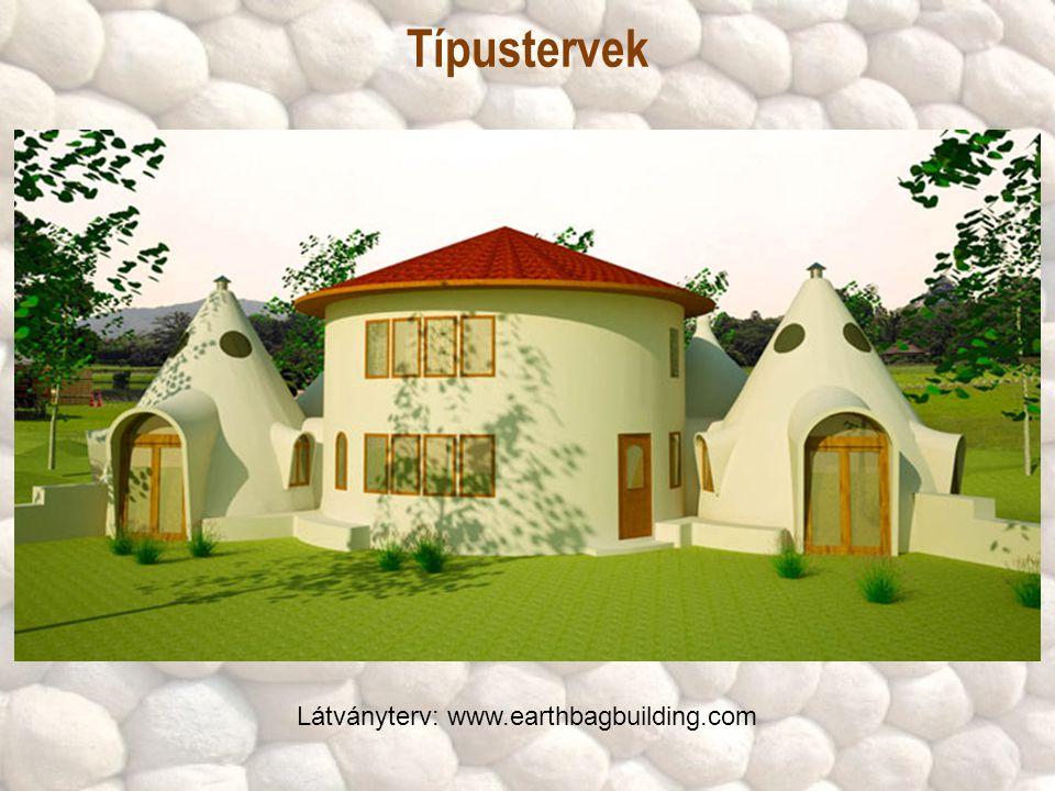 Típustervek Látványterv: www.earthbagbuilding.com